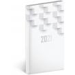 Vreckový diár Cambio Classic 2021, biely, 9 × 15,5 cm
