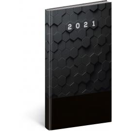 Vreckový diár Cambio Classic 2021, čierny, 9 × 15,5 cm