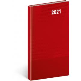 Vreckový diár Cambio Classic 2021, červený, 9 × 15,5 cm