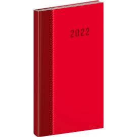 Vreckový diár Cambio Classic 2022, červený, 9 × 15,5 cm