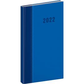Vreckový diár Cambio Classic 2022, modrý, 9 × 15,5 cm