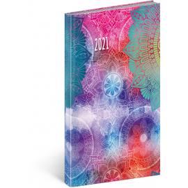 Vreckový diár Cambio Fun 2021, Mandala, 9 × 15,5 cm