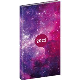 Vreckový diár Cambio Fun 2022, Galaxy, 9 × 15,5 cm