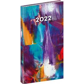 Vreckový diár Cambio Fun 2022, Maľba, 9 × 15,5 cm