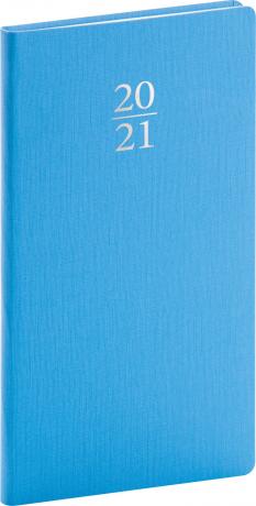 Vreckový diár Capys 2021, svetlomodrý, 9 × 15,5 cm