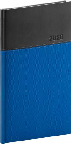 Vreckový diár Dado 2020, modro-čierny, 9 x 15,5 cm