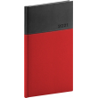 Vreckový diár Dado 2021, červeno-čierny, 9 × 15,5 cm