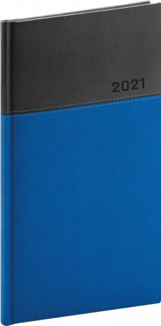 Vreckový diár Dado 2021, modro-čierny, 9 × 15,5 cm