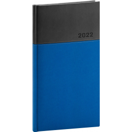 Vreckový diár Dado 2022, modro–čierny, 9 × 15,5 cm