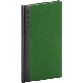 Vreckový diár Dakar 2022, sivo–zelený, 9 × 15,5 cm