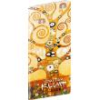 Vreckový diár Gustav Klimt SK 2020, plánovací mesačný, 8 x 18 cm