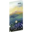 Vreckový diár Krajina 2022, plánovací mesačný, 8 × 18 cm