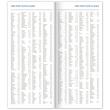 Vreckový diár Modrý 2021, plánovací měsíční, 8 × 18 cm