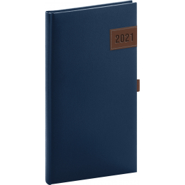 Vreckový diár Tarbes 2021, modrý, 9 × 15,5 cm