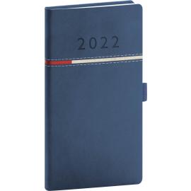 Vreckový diár Tomy modro–červený, 2022 9 × 15,5 cm