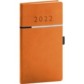 Vreckový diár Tomy oranžovo–čierny, 2022 9 × 15,5 cm