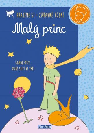 MALÝ PRINC – Kniha aktivit, modré svítící samolepky