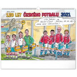 Nástenný kalendár 120 rokov českého futbalu – Petr Urban 2021, 48 × 33 cm