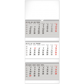 Nástenný kalendár 3–mesačný štandard skladací 2022, 29,5 × 69,5 cm