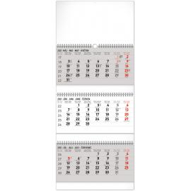Nástenný kalendár 3měsíční štandard skladací SK 2021, 29,5 × 72 cm