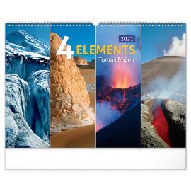 Nástenný kalendár 4 Živly 2021 – Tomáš Míček, 48 × 33 cm