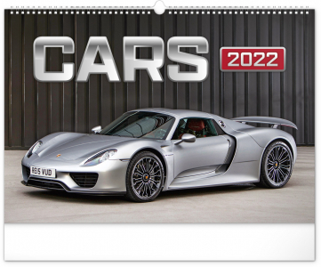 Nástenný kalendár Autá 2022, 48 × 33 cm