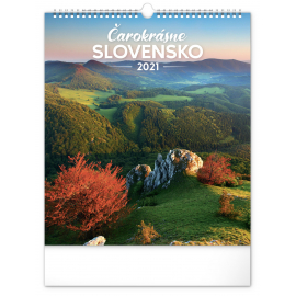 Nástenný kalendár Čarokrásne Slovensko SK 2021, 30 × 34 cm