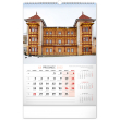 Nástenný kalendár České a slovenské kúpele CZ 2022, 33 × 46 cm