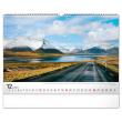 Nástenný kalendár Cesty 2021, 48 × 33 cm
