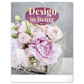Nástenný kalendár Design in Living 2021, 48 × 56 cm