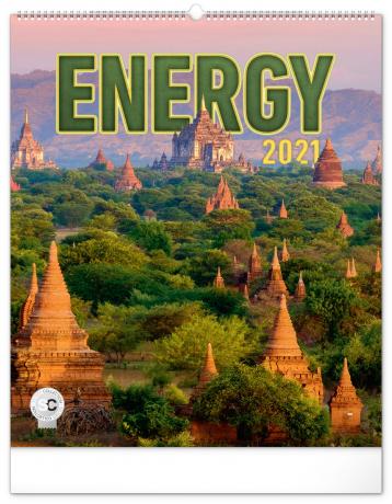 Nástenný kalendár Energia 2021, 48 × 56 cm