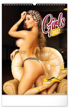 Nástenný kalendár Girls 2022, 33 × 46 cm