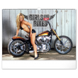 Nástenný kalendár Girls & Bikes – Jim Gianatsis 2021, 48 × 33 cm