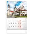 Nástenný kalendár Historické miesta Slovenska 2021, 33 × 46 cm