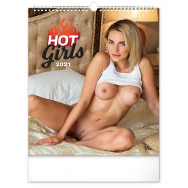 Nástenný kalendár Hot Girls 2021, 30 × 34 cm