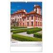 Nástenný kalendár Hrady a zámky CZ 2021, 33 × 46 cm