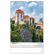Nástenný kalendár Hrady a zámky CZ 2022, 33 × 46 cm