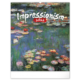 Nástenný kalendár Impresionizmus 2022, 48 × 56 cm