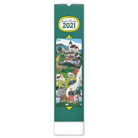 Nástenný kalendár Josef Lada – Na dedine CZ/SK 2021, 12 × 48 cm