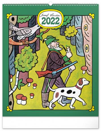 Nástenný kalendár Josef Lada – Remeslá 2022, 48 × 56 cm