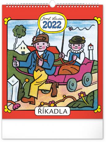 Nástenný kalendár Josef Lada – Riekanky CZ 2022, 30 × 34 cm