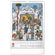 Nástenný kalendár Josef Lada – Rok na vsi CZ 2022, 33 × 46 cm