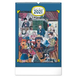 Nástenný kalendár Josef Lada – Tradície a zvyky CZ 2021, 33 × 46 cm