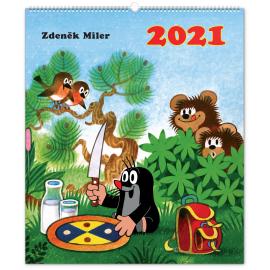 Nástenný kalendár Krtko 2021, 48 × 56 cm