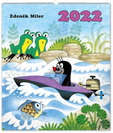 Nástenný kalendár Krtko 2022, 48 × 56 cm