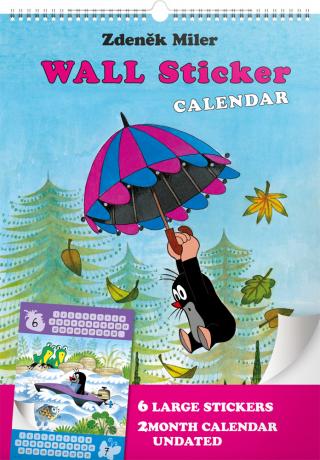 Nástenný kalendár Krtko GB, so samolepkami, 33 x 46 cm