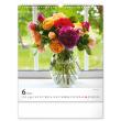 Nástenný kalendár Kvety 2022, 30 × 34 cm
