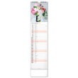 Nástenný kalendár Květiny – Kvety CZ/SK 2022, 12 × 48 cm