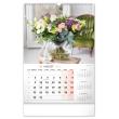Nástenný kalendár Kvety SK, 33 × 46 cm