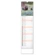 Nástenný kalendár Lesní zvěř – Lesná zver CZ/SK 2021, 12 × 48 cm